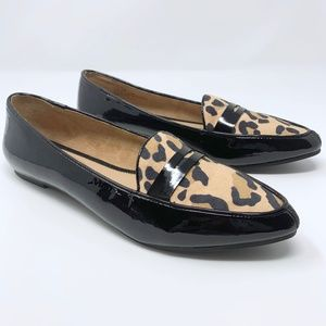 Kelly & Katie Alivia Leopard Patent Penny Loafer